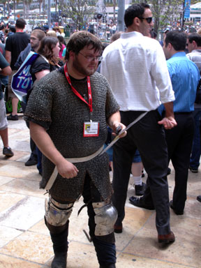 Some guy wearing chain mail