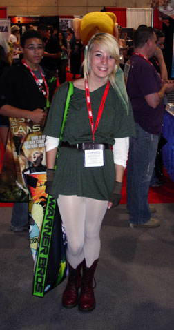 Girl dressed as Link
