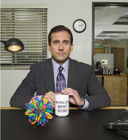 Michael Scott in the office